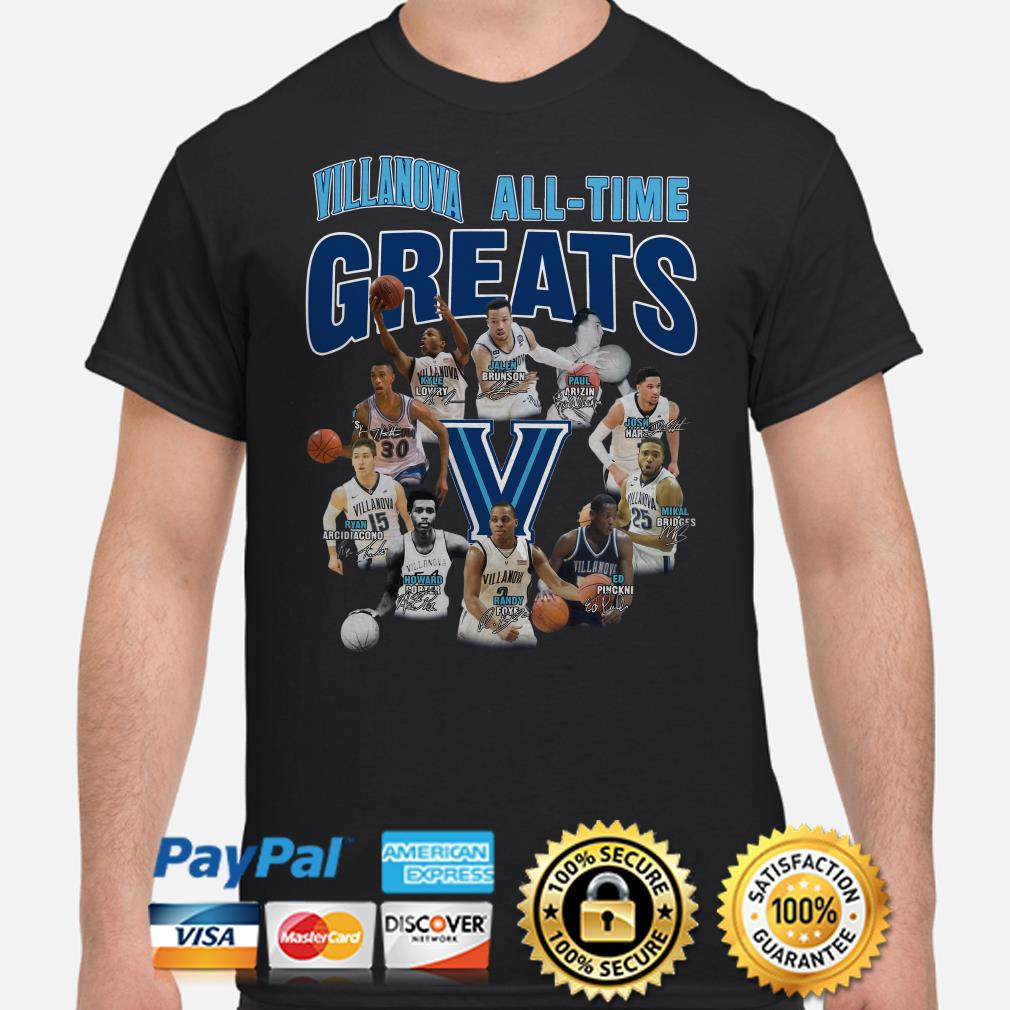 Villanova All-time greats signature shirt