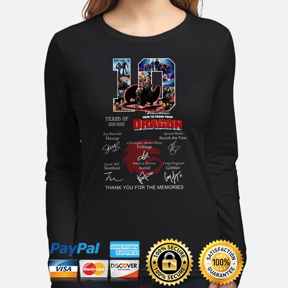 10 Years of Dream Works How To Train Your Dragon thank you for the memories Long sleeve