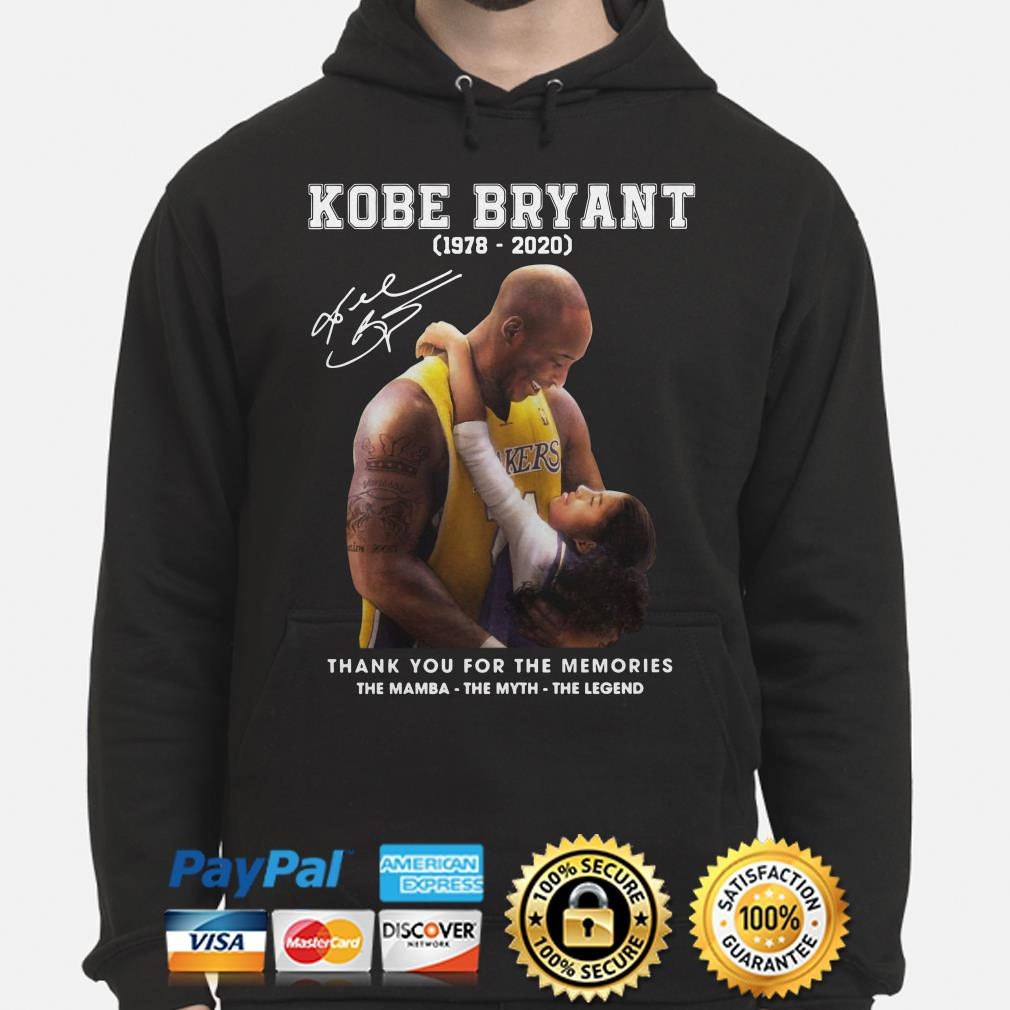 Kobe Bryant thank you for the memories The Mamba The Myth The Legend Hoodie