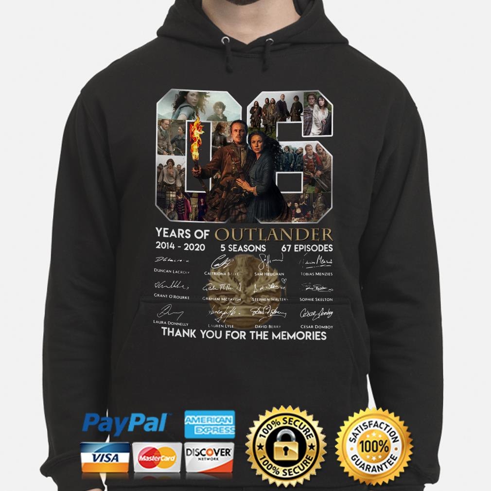 06 years of Outlander thank you for the memories signature Hoodie