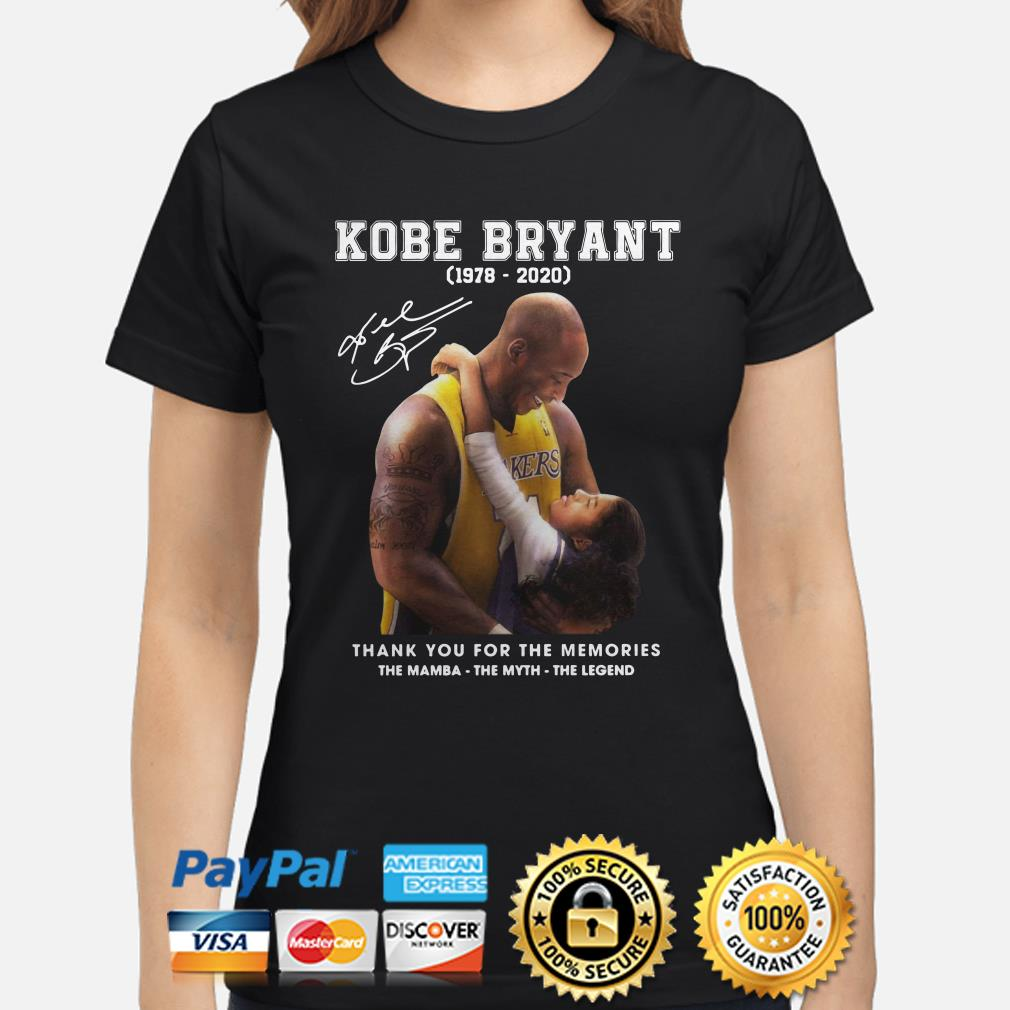 Kobe Bryant thank you for the memories The Mamba The Myth The Legend Ladies shirt