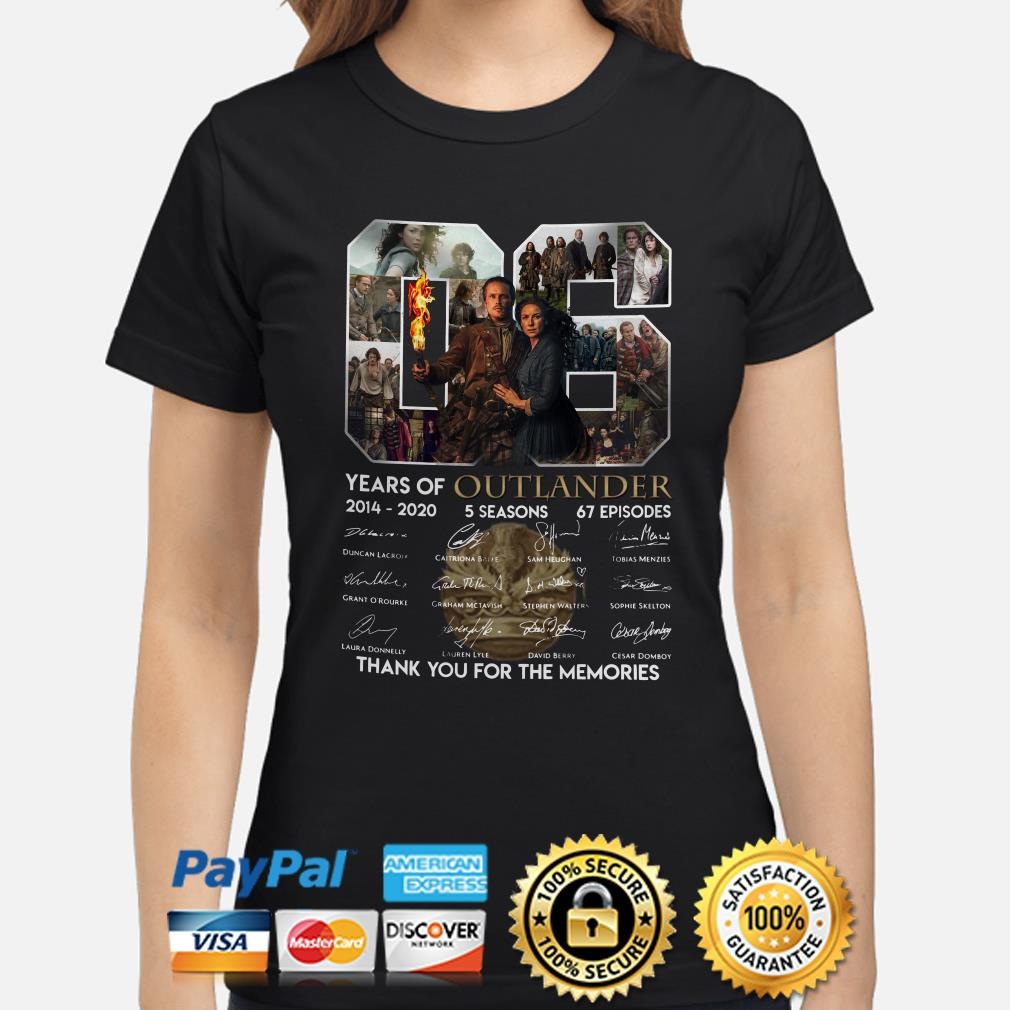 06 years of Outlander thank you for the memories signature Ladies shirt