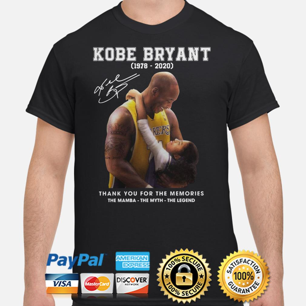 Kobe Bryant thank you for the memories The Mamba The Myth The Legend shirt