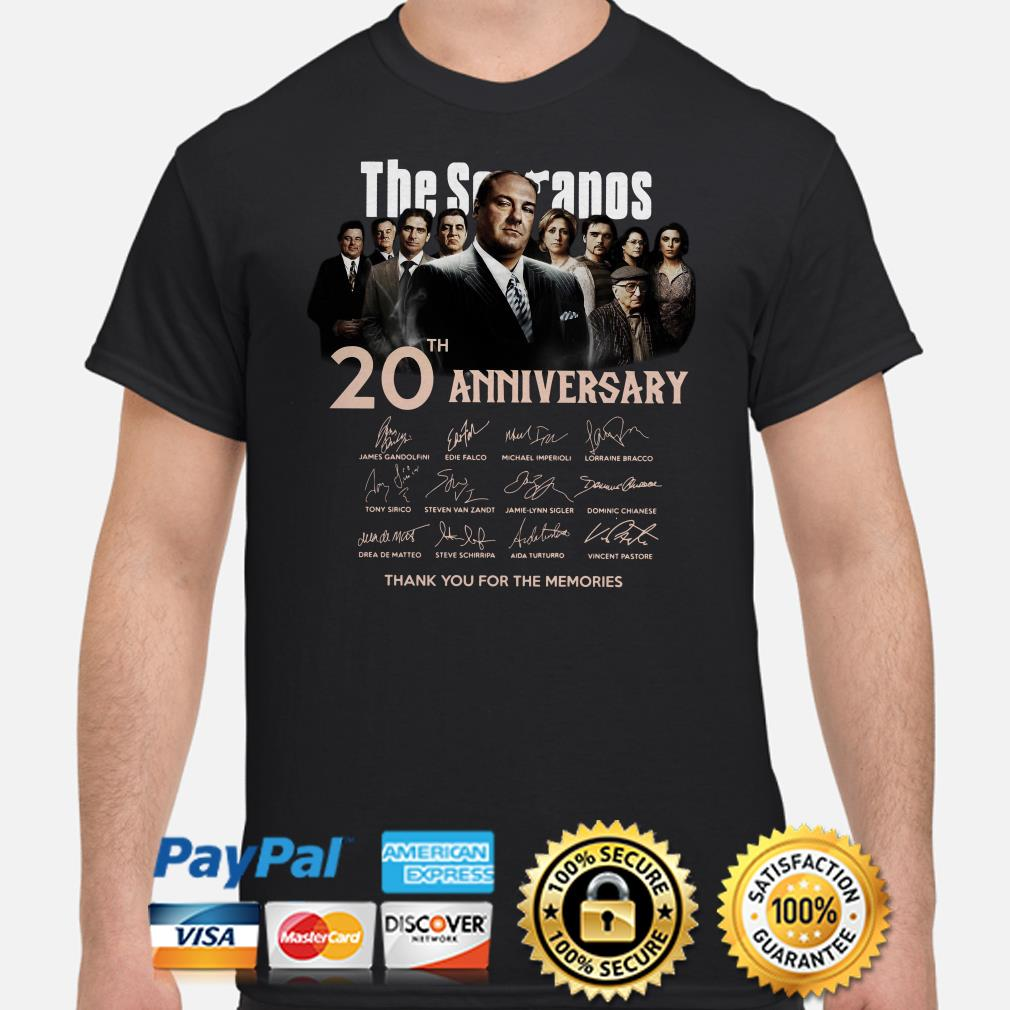 The Sopranos 20th anniversary thank you for the memories signature shirt