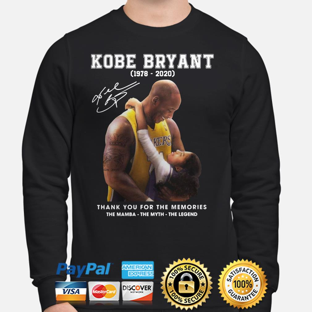 Kobe Bryant thank you for the memories The Mamba The Myth The Legend Sweater