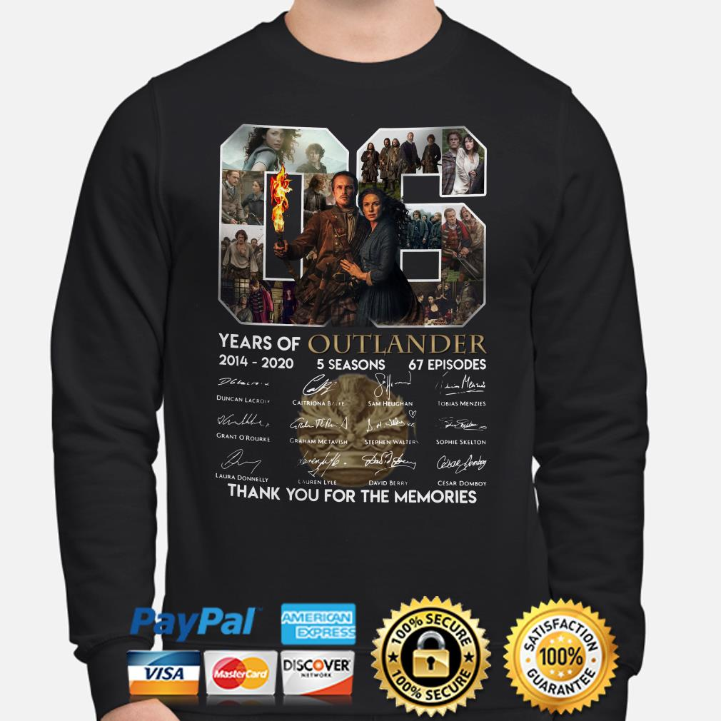 06 years of Outlander thank you for the memories signature Sweater
