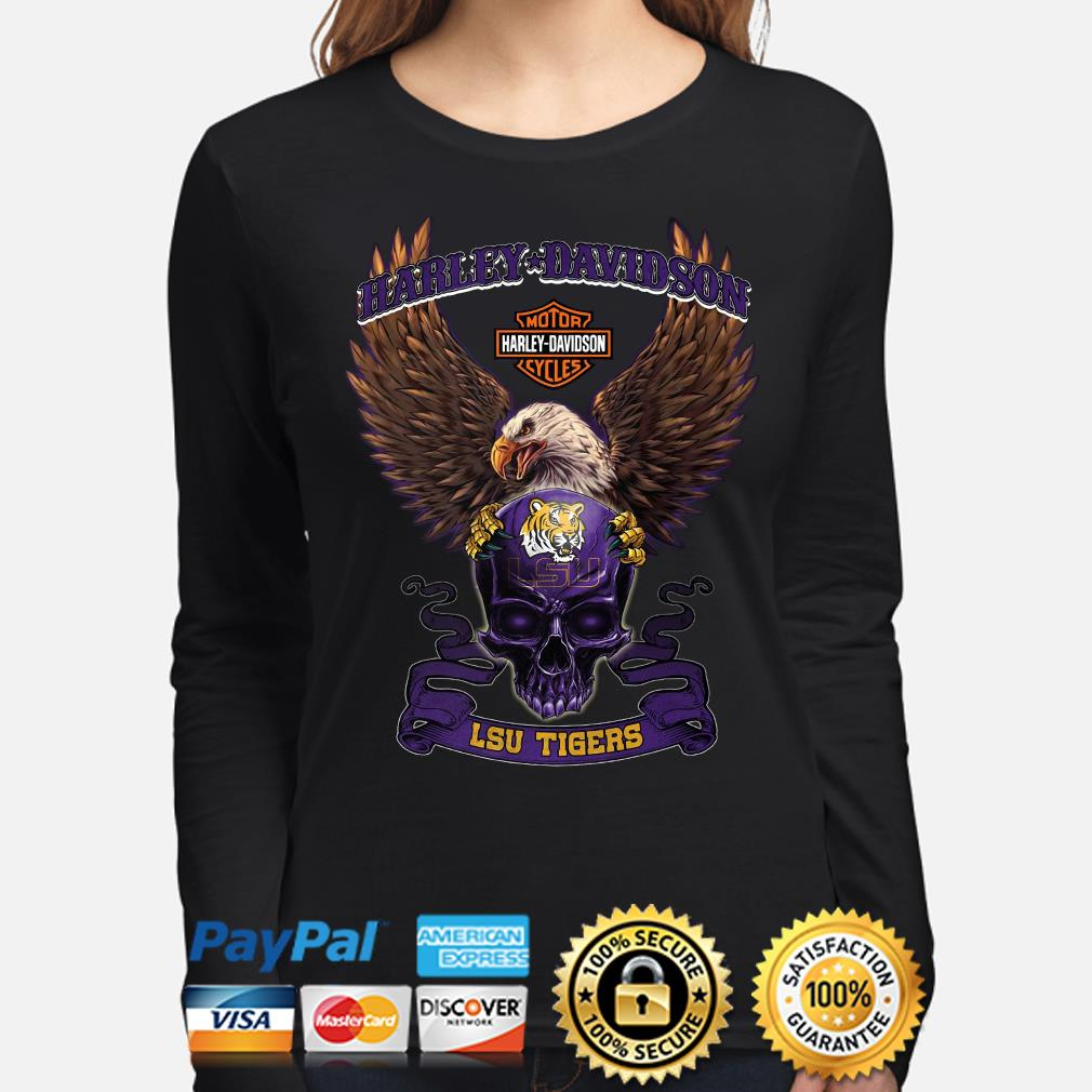 Harley Davidson Skull LSU Tigers s long-sleeve
