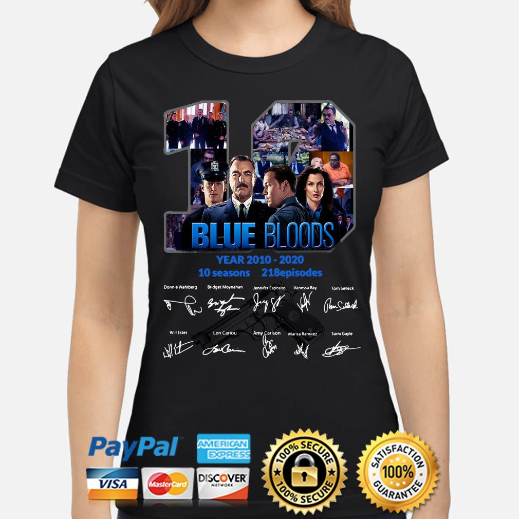 10 years of Blue Bloods signature s ladies-shirt