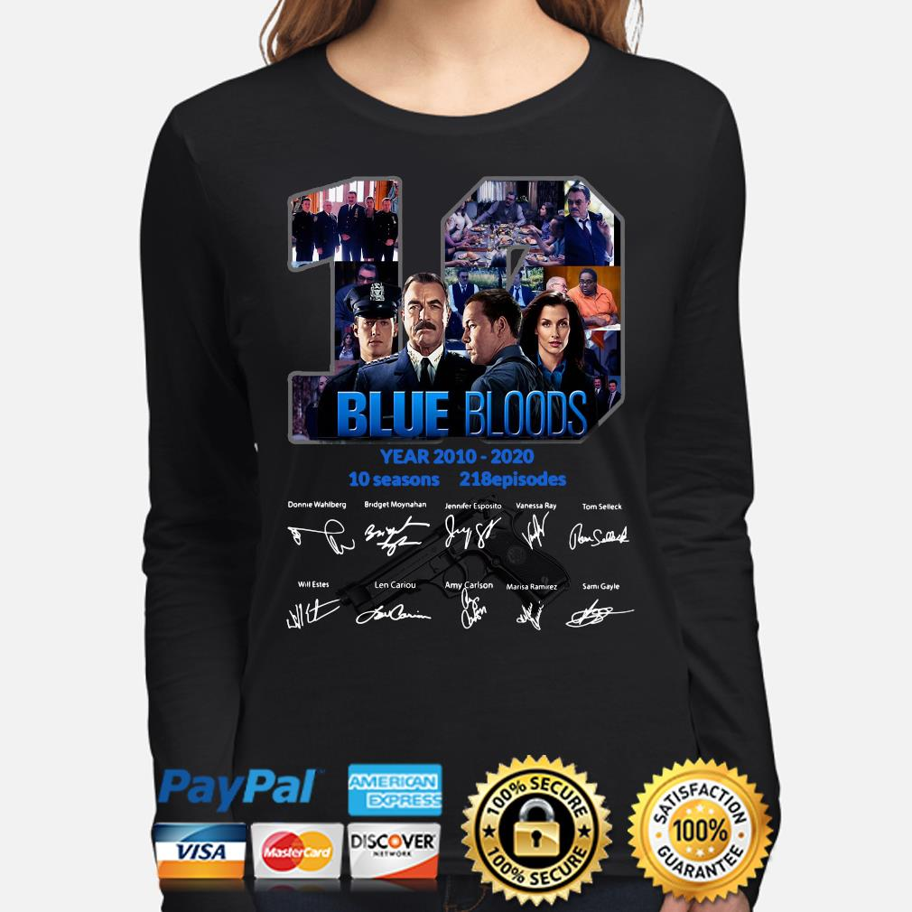 10 years of Blue Bloods signature s long-sleeve