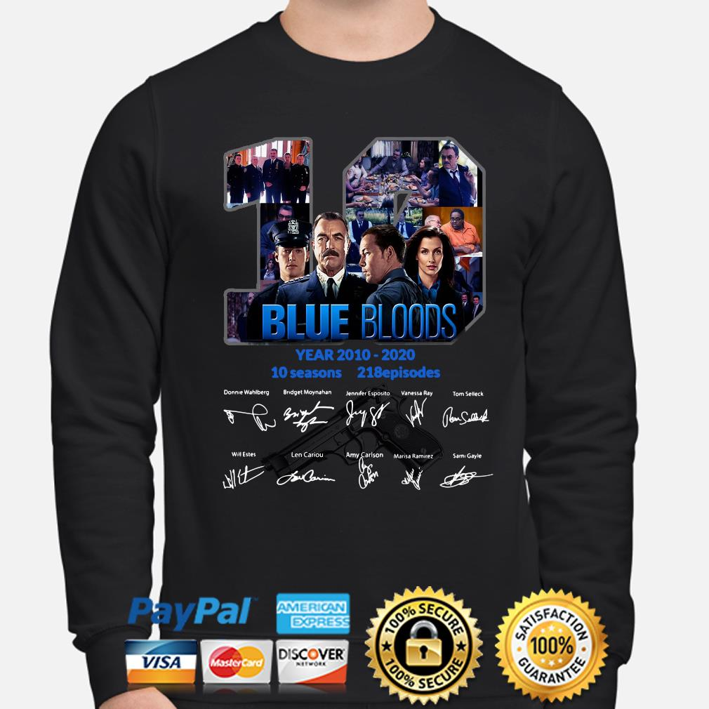 10 years of Blue Bloods signature s sweater
