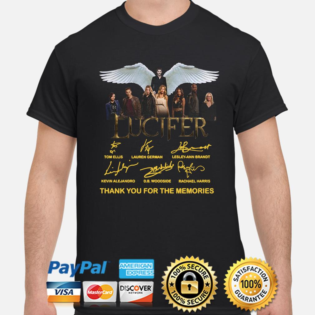 Lucifer thank you for the memories signatures shirt