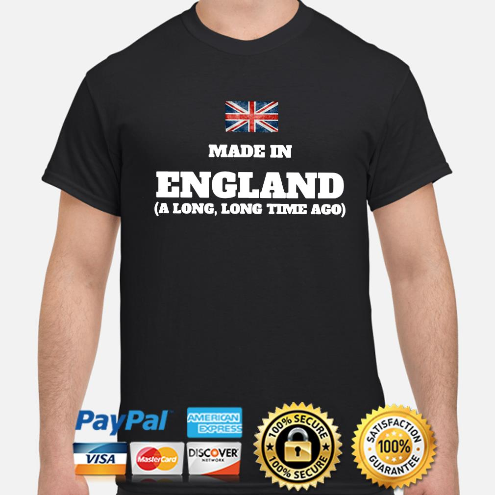 Made in England flag shirt