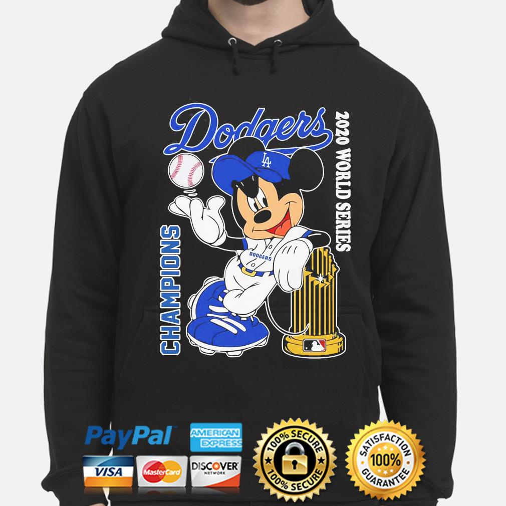 Mickey Mouse Los Angeles Dodgers Champion 2020 world Series s hoodie