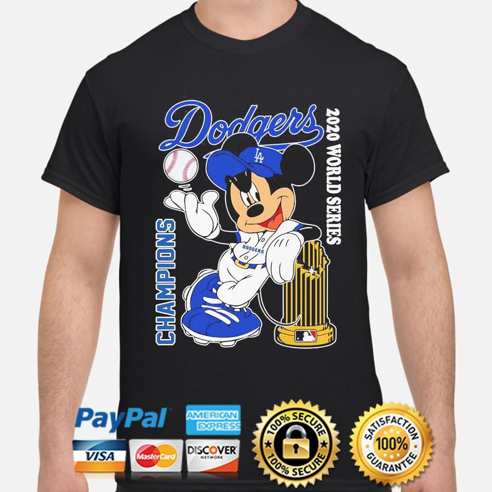 Mickey Mouse Los Angeles Dodgers Champion 2020 world Series shirt
