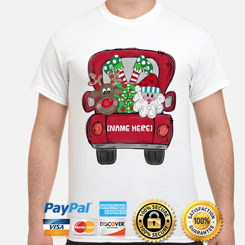 Personalized Red Truck Christmas sweater