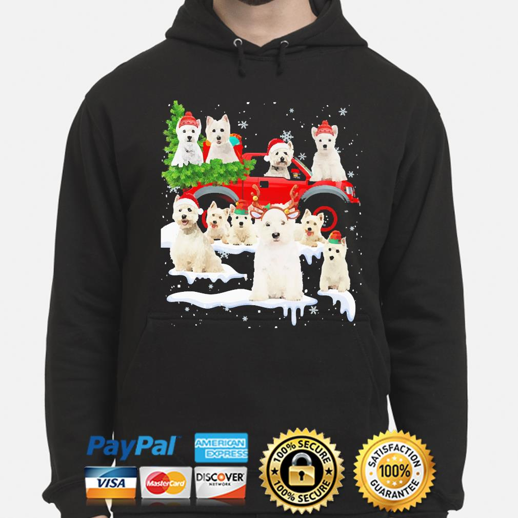 West Highland White Terriers Dog Santa Merry Christmas sweater hoodie
