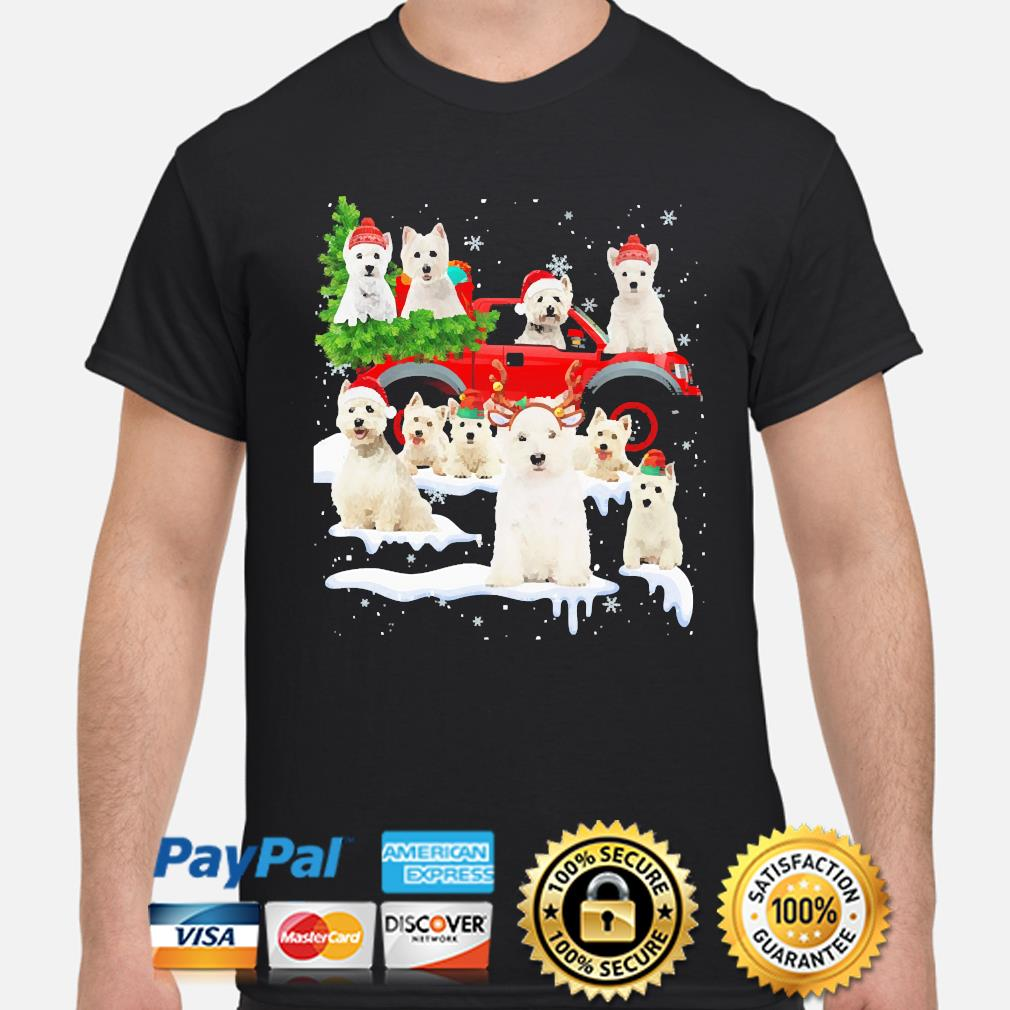 West Highland White Terriers Dog Santa Merry Christmas sweater