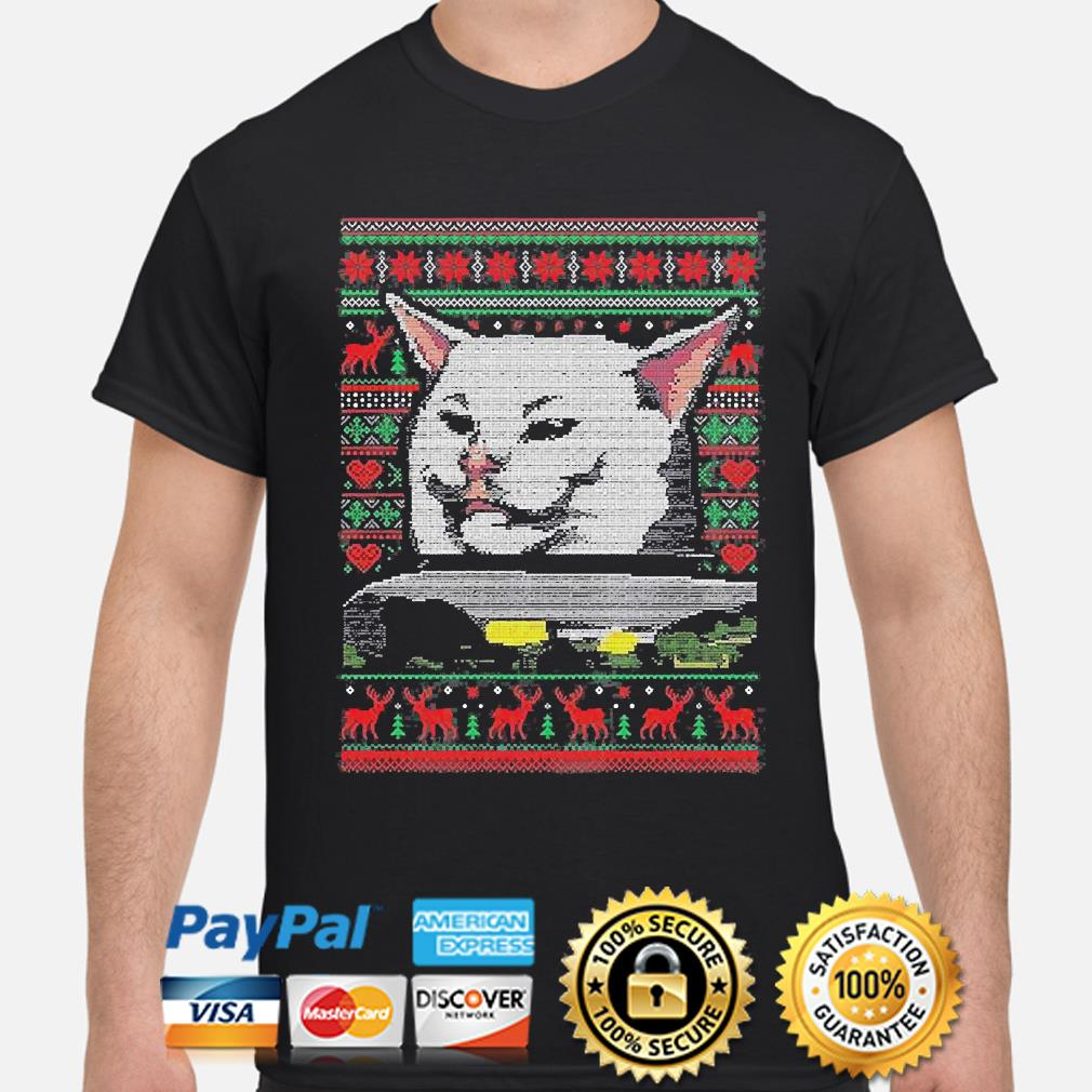 Woman Yelling At A Cat Meme Smudge the Cat Ugly Christmas sweater