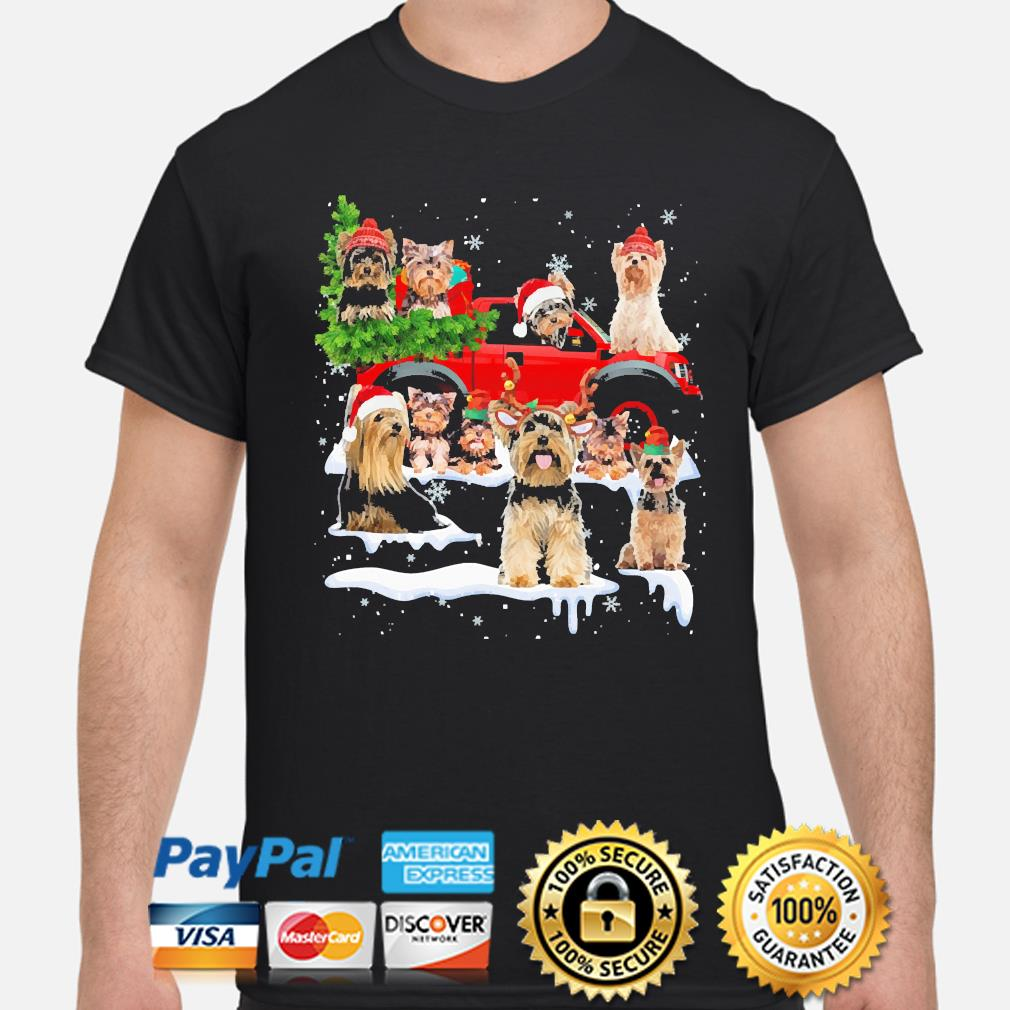 Yorkshire Terriers Dog Santa Merry Christmas sweater