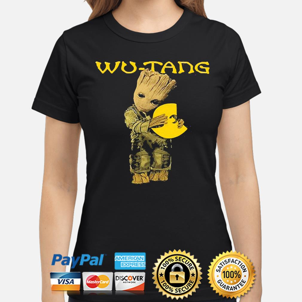 Official Baby Groot hug Wu-Tang s ladies-shirt