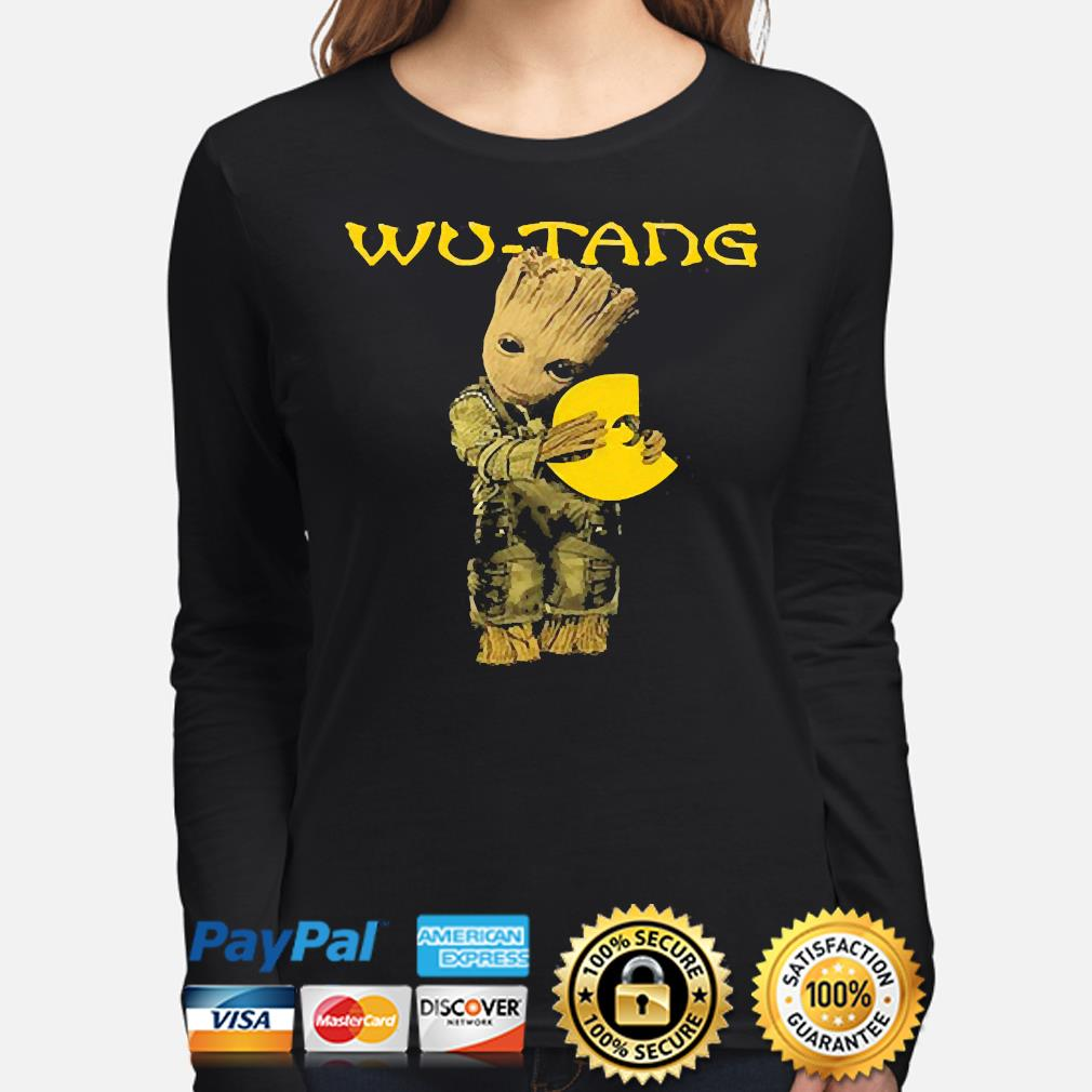 Official Baby Groot hug Wu-Tang s long-sleeve