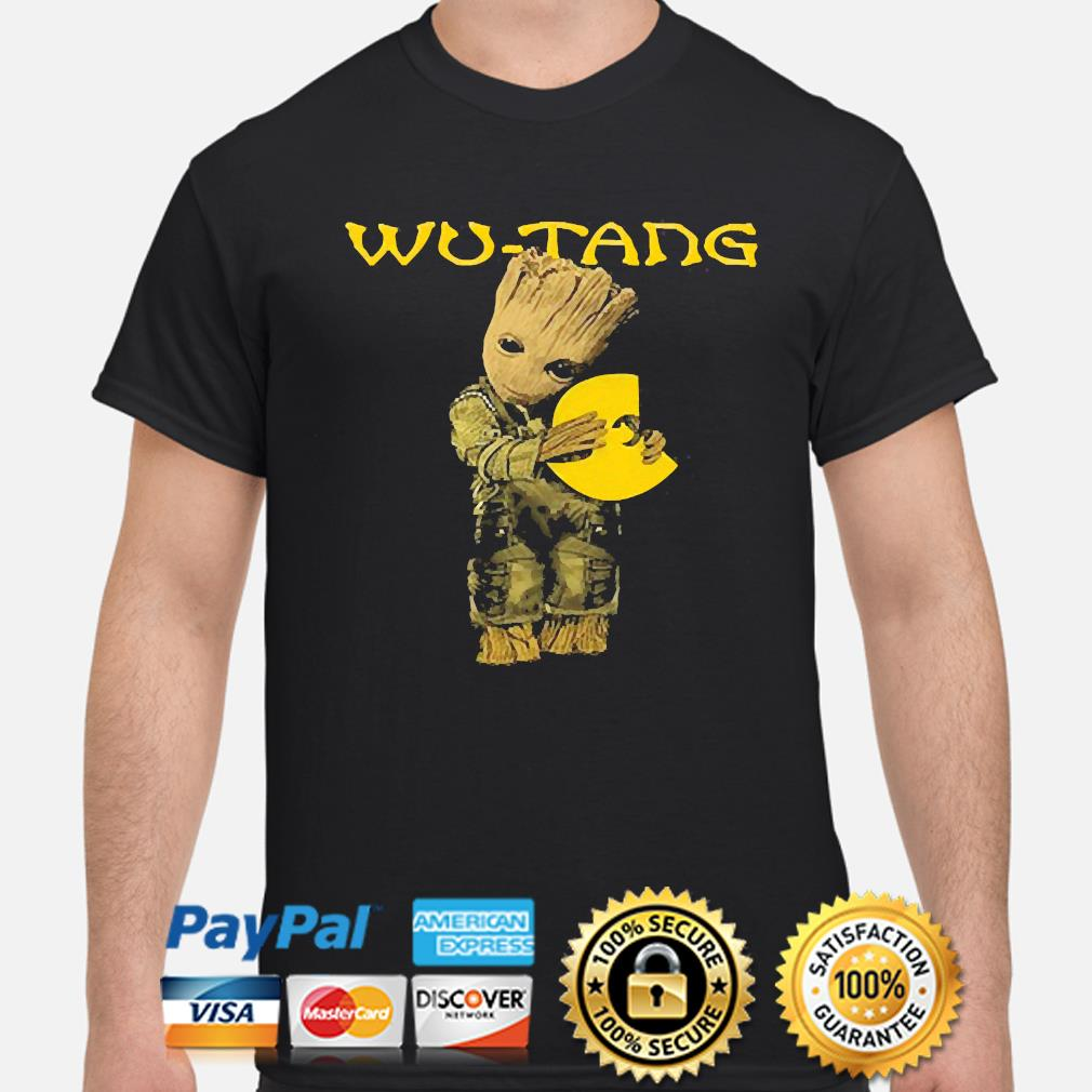 Official Baby Groot hug Wu-Tang shirt