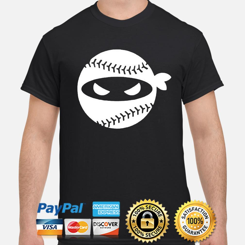 Pitching ninja baseball shirt