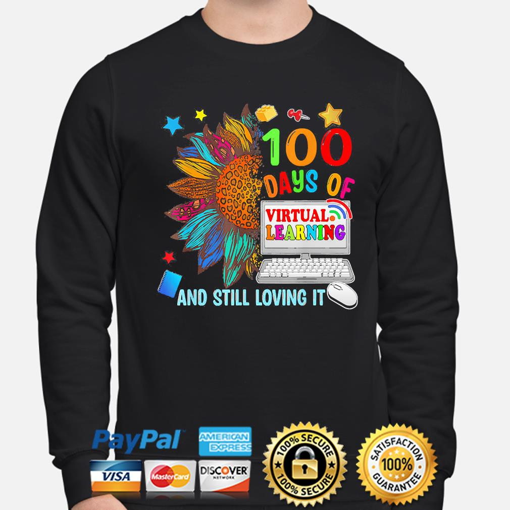Sunflower 100 days of virtual learning and still loving it s sweater