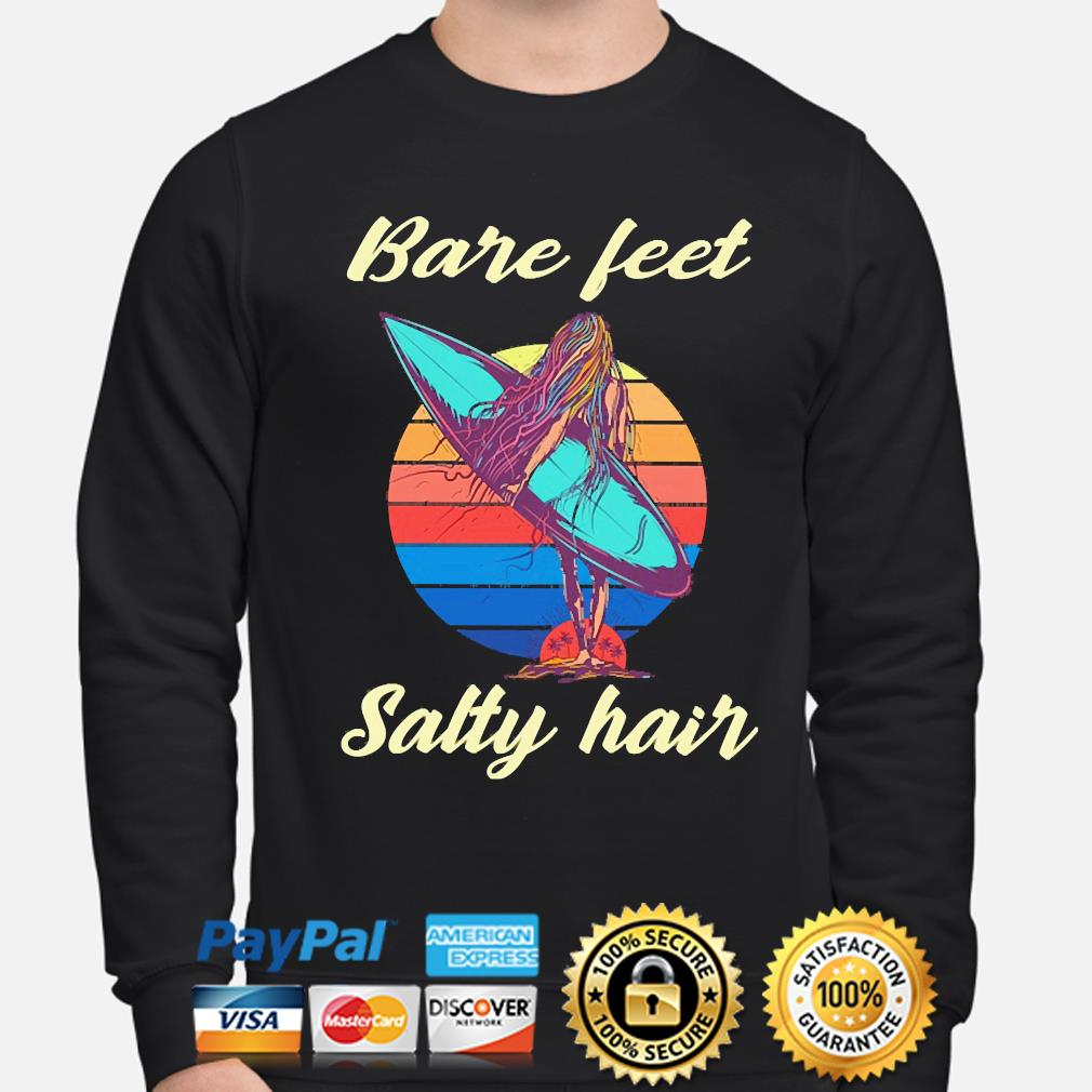 Surfing Bare feet Salty hair vintage s sweater