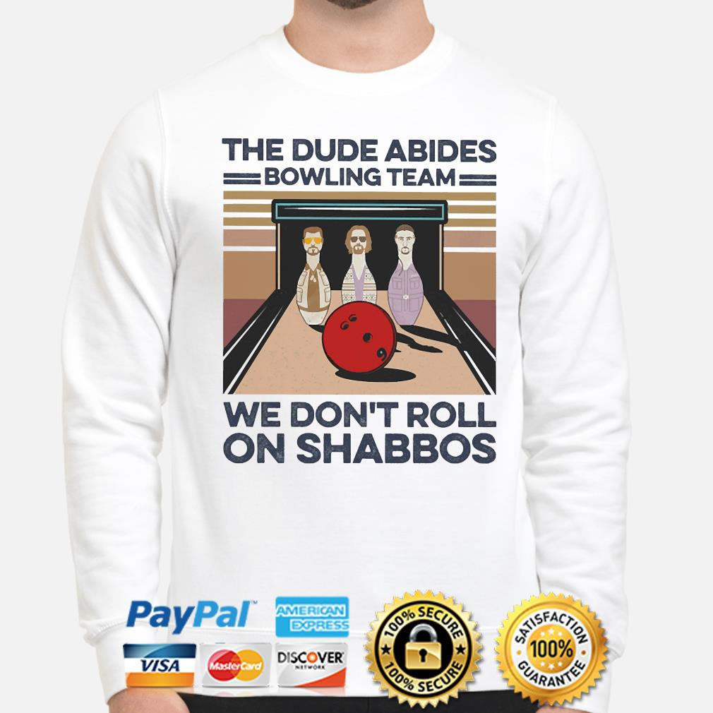 The Dude Abides Bowling Team we don't Roll on Shabbos vintage shirt