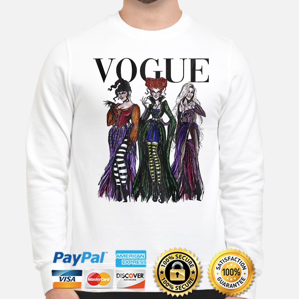 The Sanderson sisters Hocus Pocus Vogue shirt
