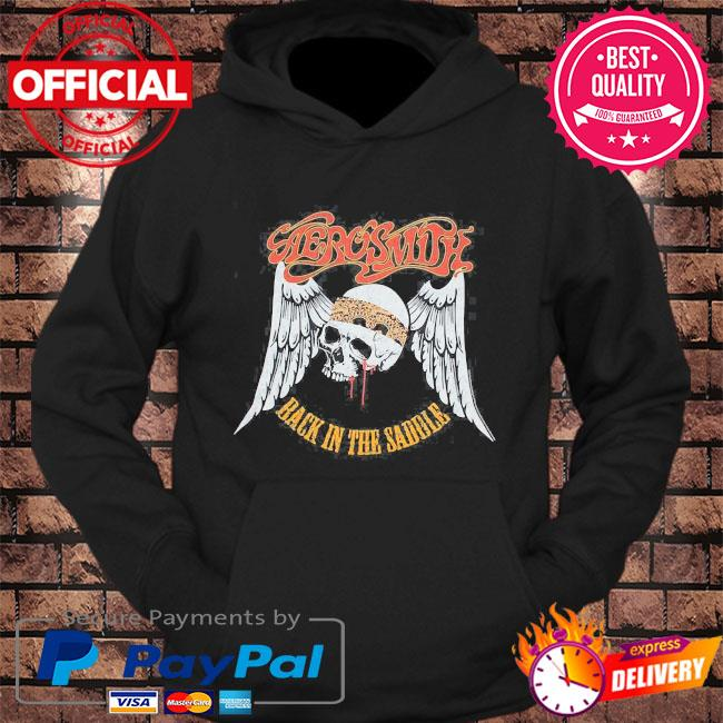 Aerosmith rock band back in the saddle graphic s hoodie Black