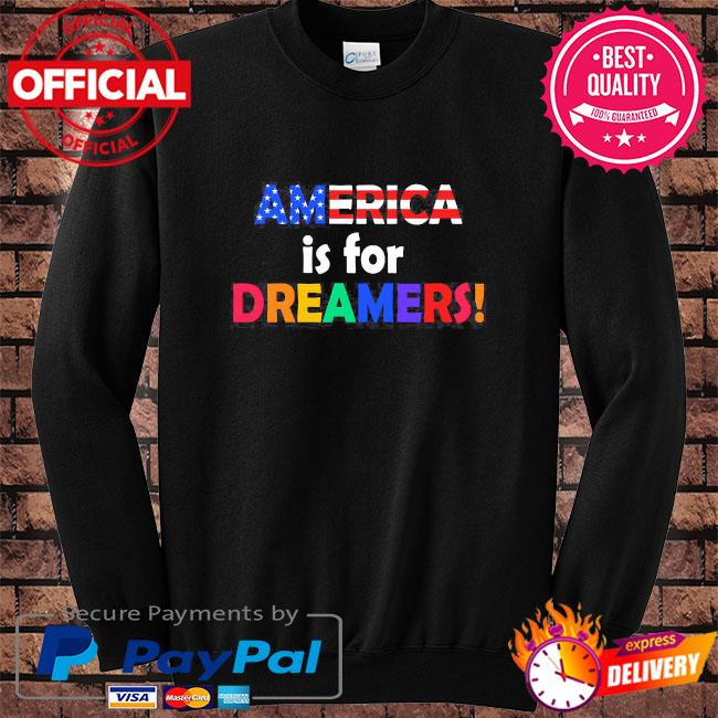 America is for dreamers s Sweater black