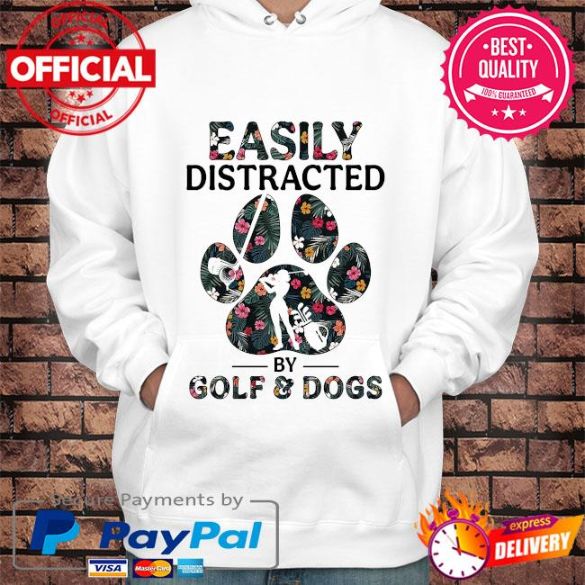 Easily distracted by solf and dogs s Hoodie white