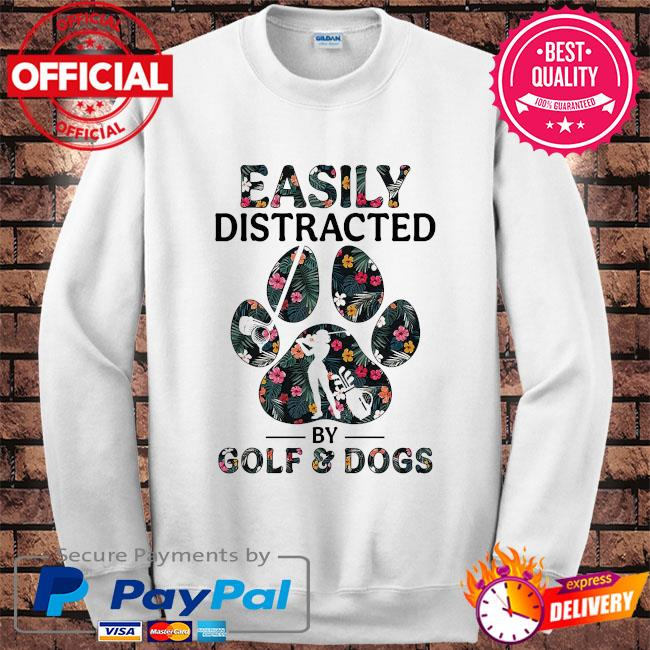 Easily distracted by solf and dogs s Sweater white